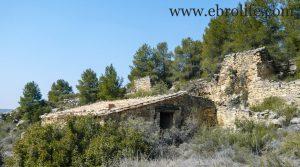 Finca de olivos y almendros en Calaceite a buen precio con río por 85.000€
