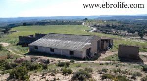 Detalle de Construcción ganadera en Maella con casa