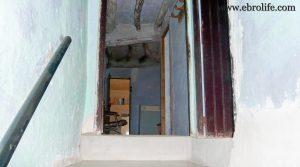Detalle de Casa antigua en Fabara con electricidad