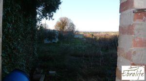 Detalle de Huerto y Masía de dos plantas en Maella con desagüe
