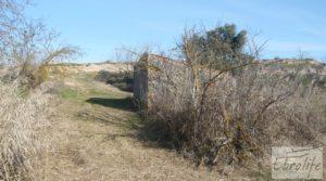 Vendemos Finca en la huerta de Caspe con masía de piedra. con acceso asfaltado