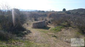 Finca en la huerta de Caspe con masía de piedra. en oferta con acceso asfaltado