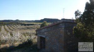 Detalle de Finca en la huerta de Caspe con masía de piedra. con acceso asfaltado por 19.000€
