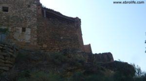 Detalle de Torre en la Zaragozeta Caspe con olivos por 120.000€