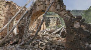 Detalle de Finca en Calaceite con olivos centenarios
