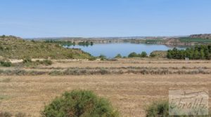 Detalle de Finca junto al gran embalse en Caspe con muy tranquilo por 66.000€